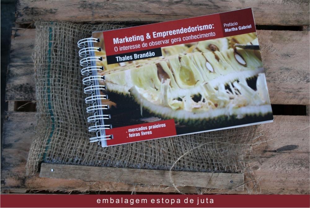 Livro Thales Brandão | Embalagem Juta